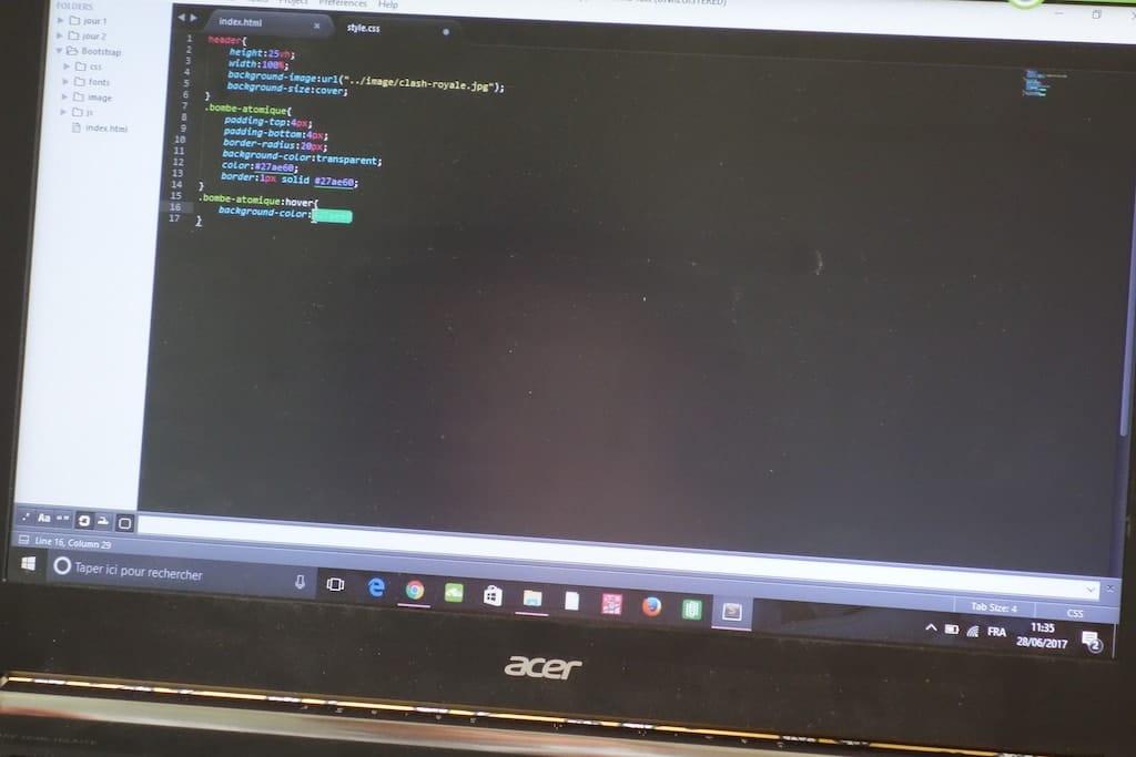 code html programmation