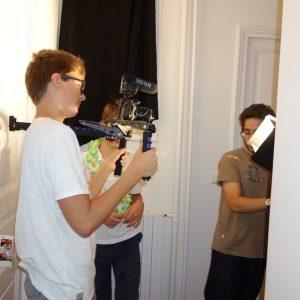 tournage montage d'epaule projecteur