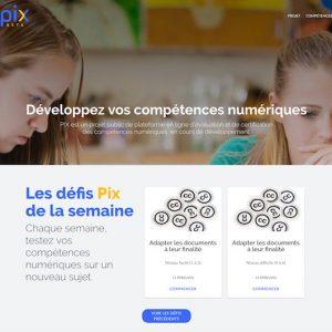 Pix accueil plateforme evaluation competences numeriques