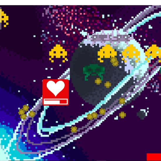 Capture d'écran d'un jeu vidéo de type space invader