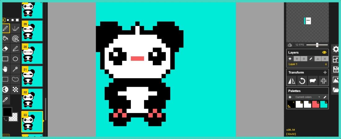 Pixel art animé